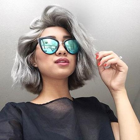 Hair Grey Dyed Makeup