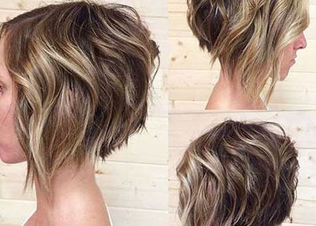 Bob Wavy Hair Choppy