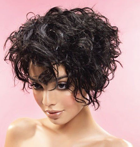 Curly Short Hair Thick