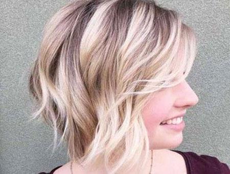 Hair Blonde Choppy Women