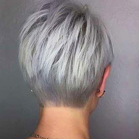 Short Hair Gray Women