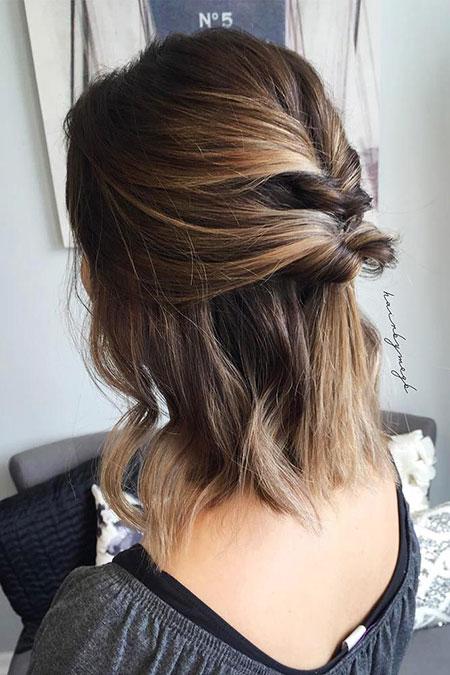 Hair Balayage Updos Short