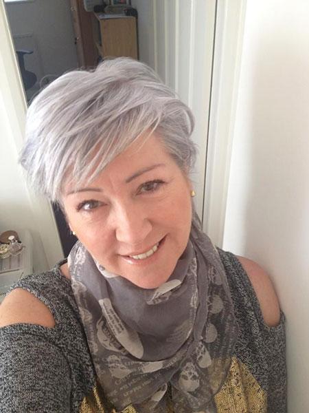 Hair Short Pixie Grey