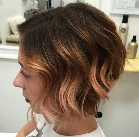 Balayage Brown Bob Hair