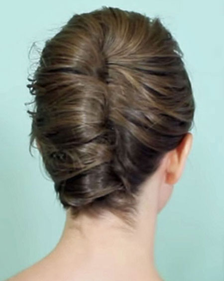 Hair Updo Rollsup Twist