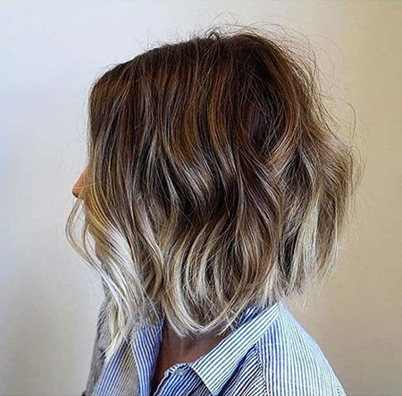 Balayage Choppy Short Bob