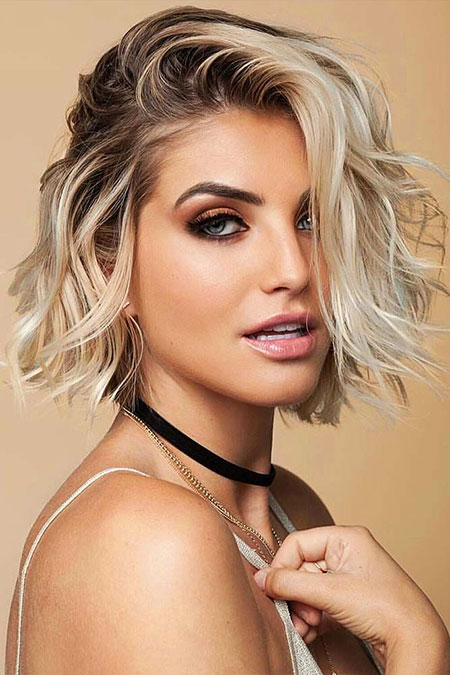 Hair Makeup Blonde Short