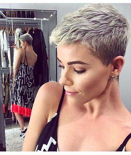 Short Hair Pixie Grey