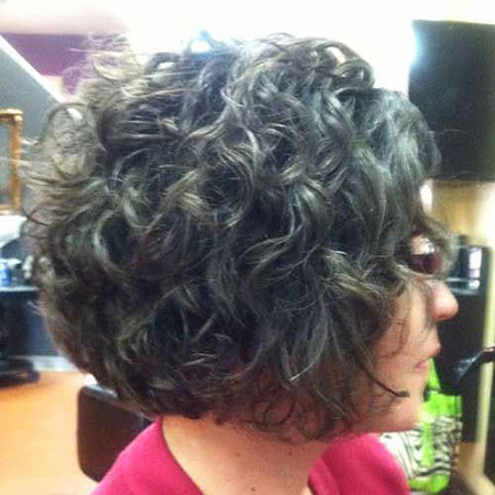 Thick Dark Brown Hair, Curly Hair Short Bob