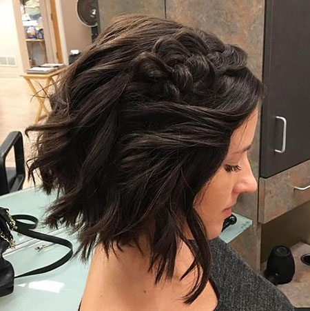Messy Wavy Hair, Short Braids Hairtyles 40
