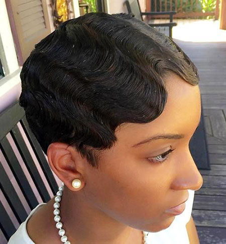 Finger Waves, Hair Women Short Pixie