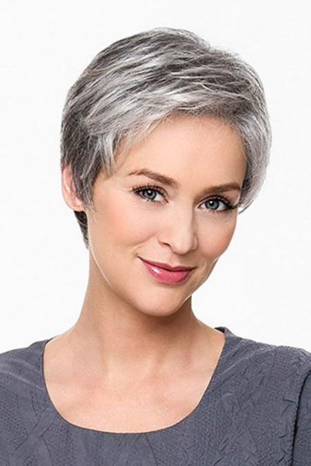 Short Pixie for Older Women, Hair Short Pixie Highlights
