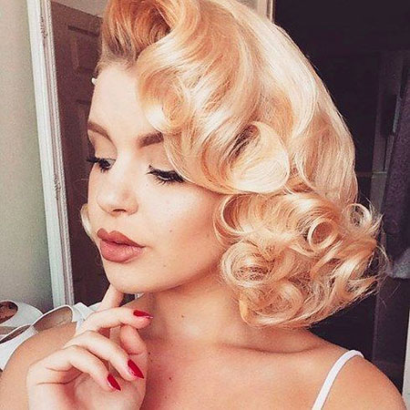 Pin Up Curls for Short Hair, Hair Prom Marilyn Women