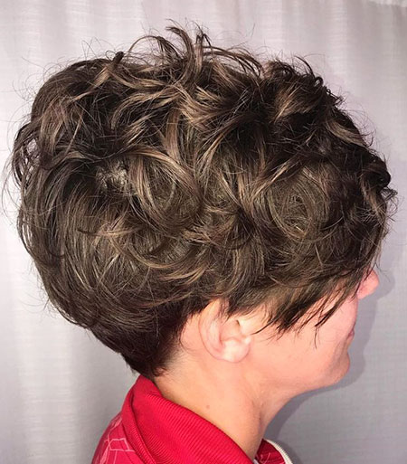 Shaggy Curly Pixie, Short Curly Black Thick