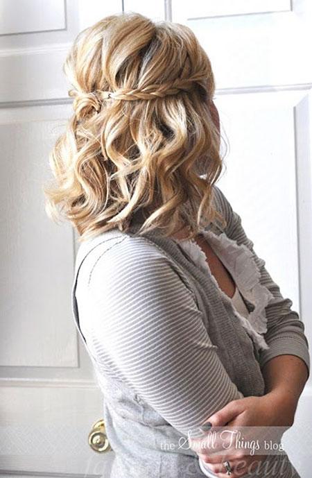 Prom and Wedding Short Hair, Hair Hairtyles Braids Medium