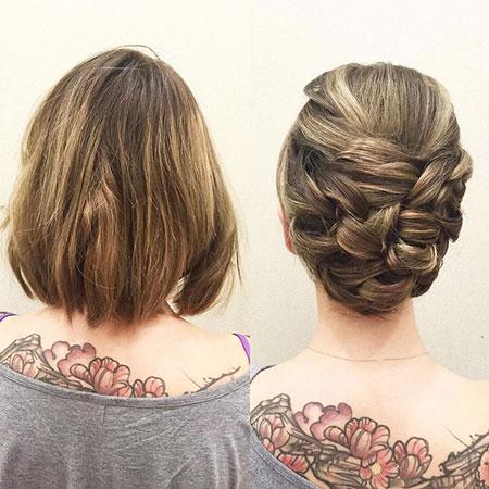 Hair Updo Up Short