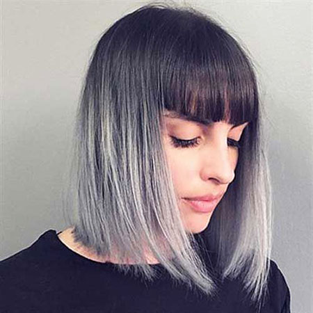 Hair Ombre Color Short