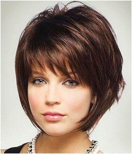 Short Hair Round Faces