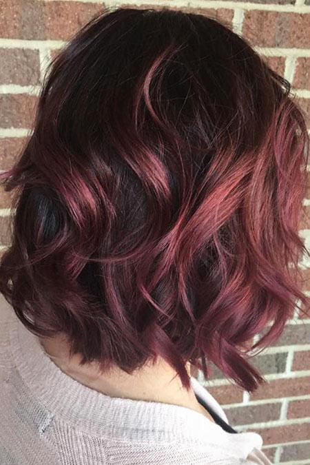 Hair Burgundy Thick Balayage