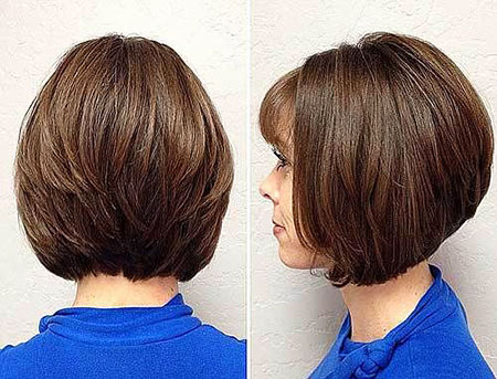 Bob Layered Hairtyles Short