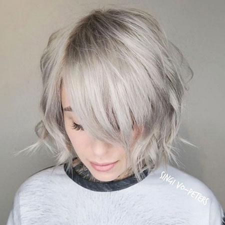 Silver Choppy Blonde Ash