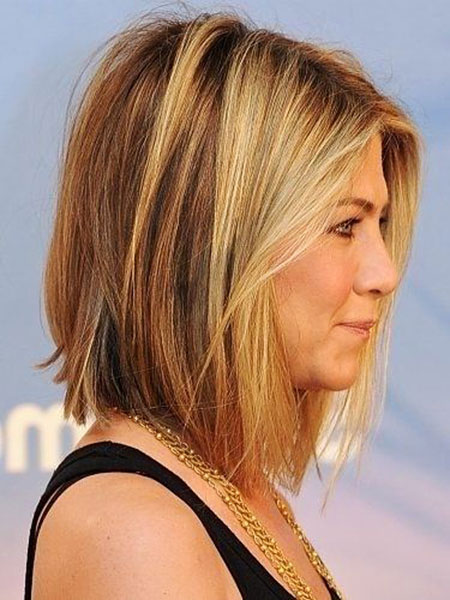 Jennifer Aniston Short Hairtyle, Bob Hairtyles Long Balayage