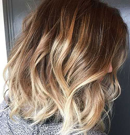 Short Hairtyle with Ombre Color, Blonde Balayage Hair Color