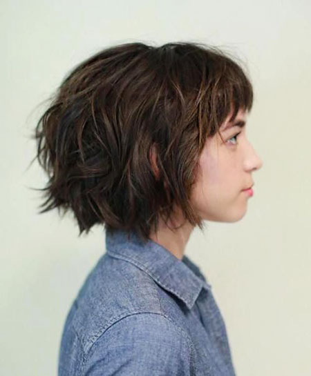 Short Layered Wavy Shag