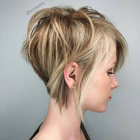Layered Blonde Pixie Short