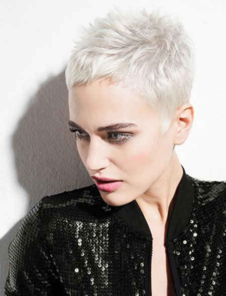 Short Pixie Hair Gray