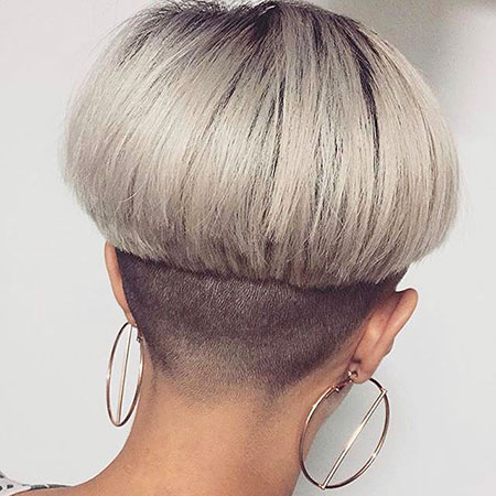 Gray Pixie Wedge Hair