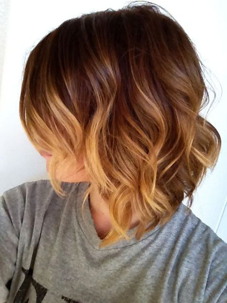 Bob Ombre Parted Side