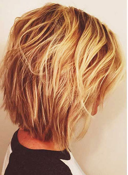 Layered Bob Razored Blonde