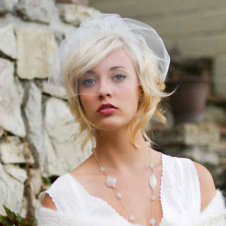 Hair Short Wedding Veil