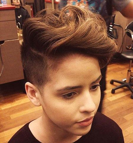 Teenage Hair Undercut Girl