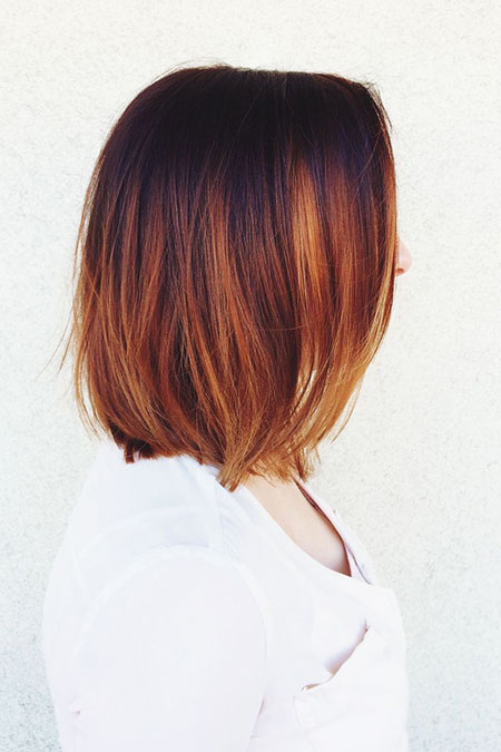 Copper Hair Chopped Bob