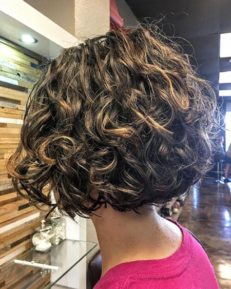 Curly Bob Layered Flicked