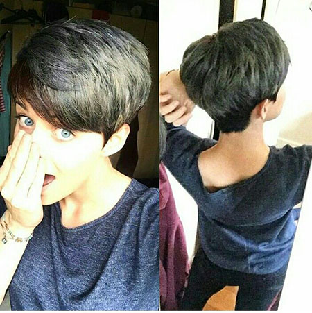 Hair Pixie Wedge Short
