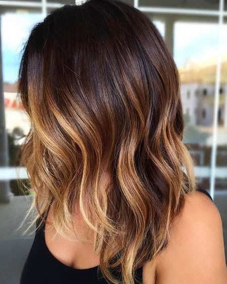 Balayage Hair Caramel Dark
