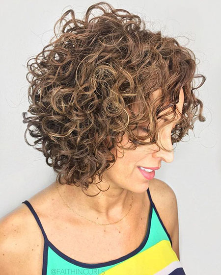 Curly Bob Brown Naturally