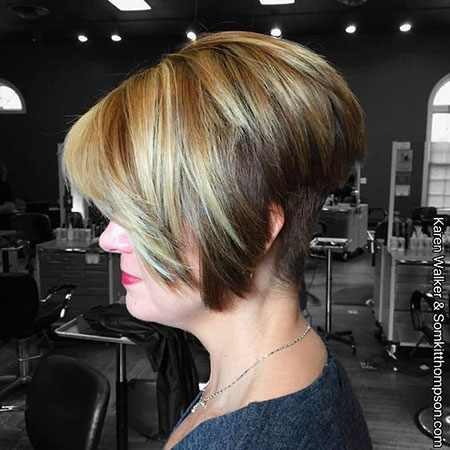 Pixie Blonde Layered Bob