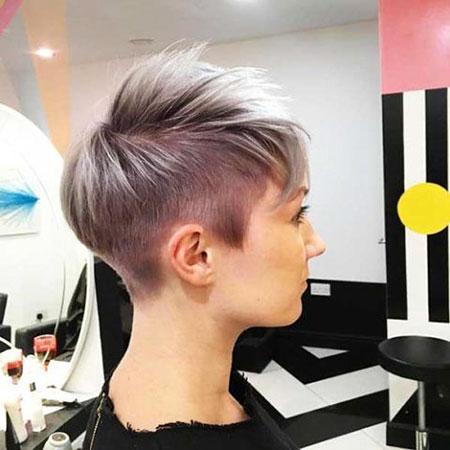 Punk Fashion Trend, Pixie Undercut Fashion Purple