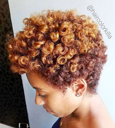 Short Afro, Natural Hair Tapered Styles