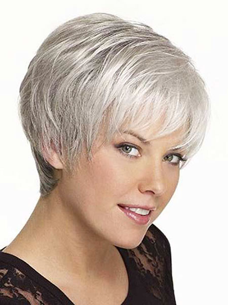 Grey Pixie, Hair Short Over 50