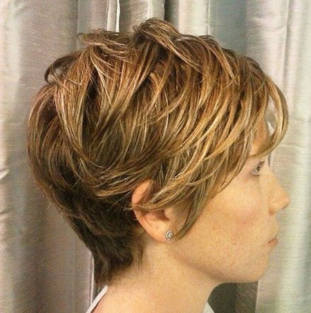 Long Layered Pixie, Layered Bob Women Girls