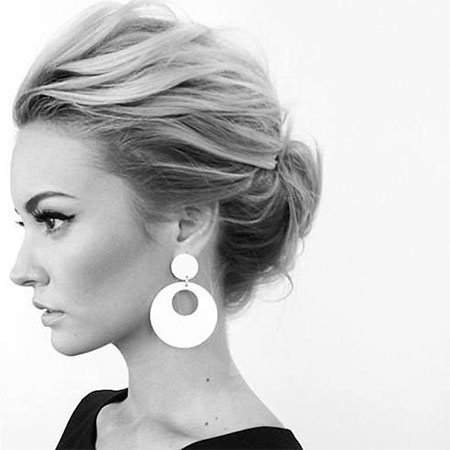 Updo for Short Hair, Hair Hairtyles Knot Messy