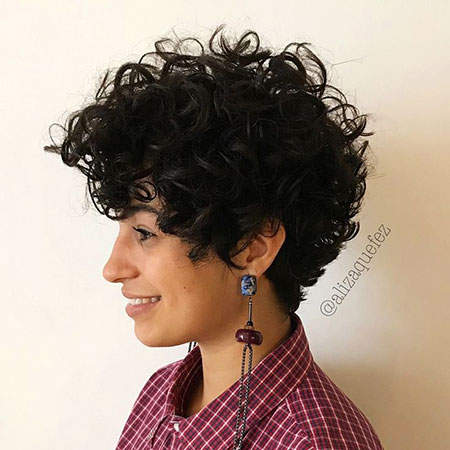 Curly Hair Styles Pixie