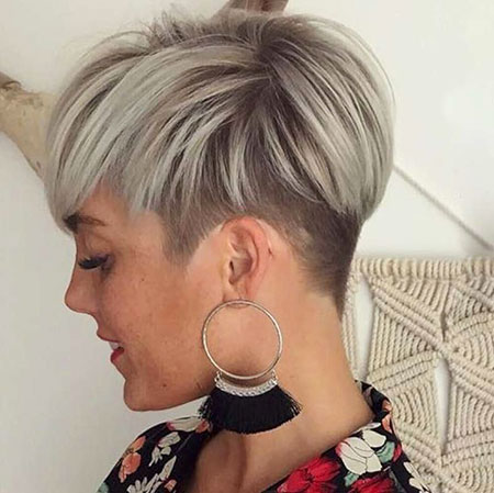 Pixie Hair Cut Blonde