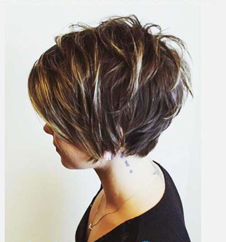 Layered Short Bob Brown