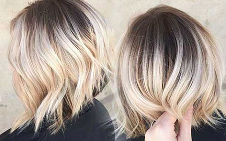 Hair Blonde Balayage Short